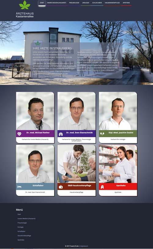 Ärztehaus Kastanienallee Webseite
