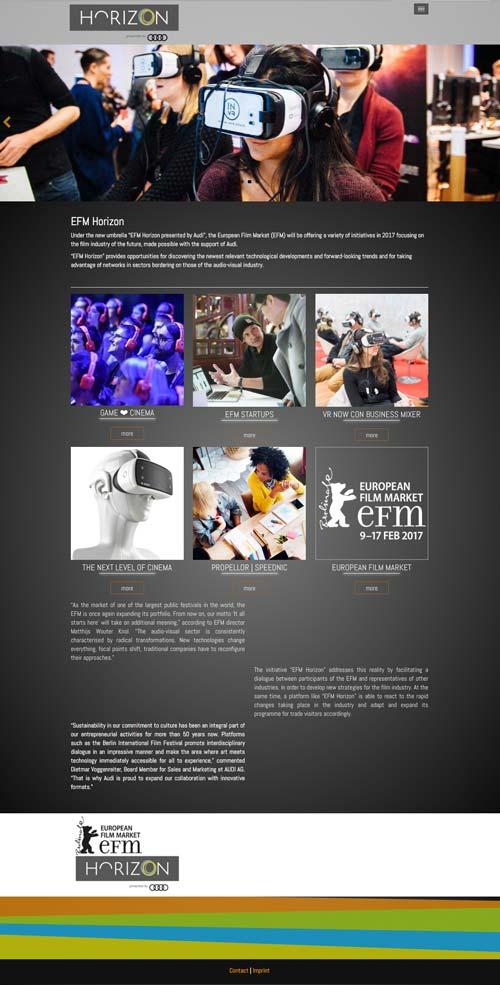 EFM HORIZON Webseite