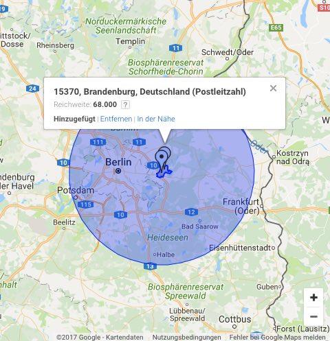 Suchmaschinenwerbung regional Brandenburg